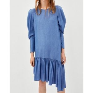 NWT Zara soft denim dress size large